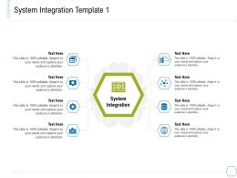 System Integration System Integration And Architecture Ppt Ideas