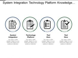 System Integration Technology Platform Knowledge Assimilation Performance Testing