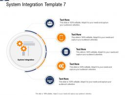System Integration Template System Continuous System Integration Model Ppt Summary