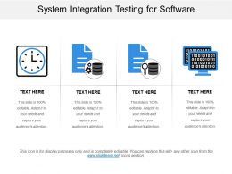 System Integration Testing For Software