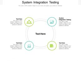 System Integration Testing Ppt Powerpoint Presentation Professional Themes Cpb