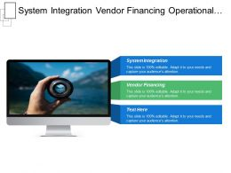System Integration Vendor Financing Operational Service Management Trends