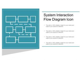System Interaction Flow Diagram Icon