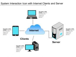 System Interaction Icon With Internet Clients And Server