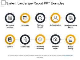 System Landscape Report Ppt Examples
