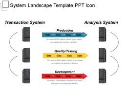 System Landscape Template Ppt Icon