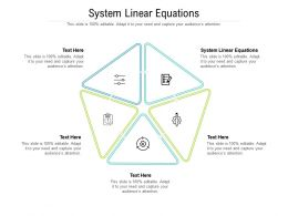System Linear Equations Ppt Powerpoint Presentation File Show Cpb