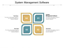 System Management Software Ppt Powerpoint Presentation Gallery Example Introduction Cpb