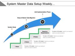 System Master Data Setup Weekly Implementation Roadmap With Arrow