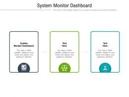 System Monitor Dashboard Ppt Powerpoint Presentation Infographics Structure Cpb