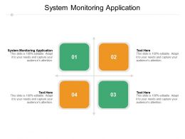 System Monitoring Application Ppt Powerpoint Presentation Pictures Gallery Cpb