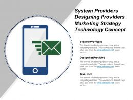System Providers Designing Providers Marketing Strategy Technology Concept