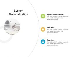 System Rationalization Ppt Powerpoint Presentation Ideas Layout Cpb
