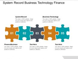 System Record Business Technology Finance Business Opportunities Market Differentiation Cpb