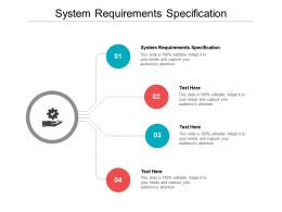 System Requirements Specification Ppt Powerpoint Presentation Styles Format Cpb