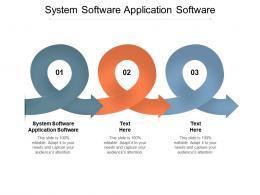 System Software Application Software Ppt Powerpoint Presentation Slides Maker Cpb