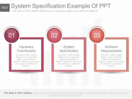System Specification Example Of Ppt