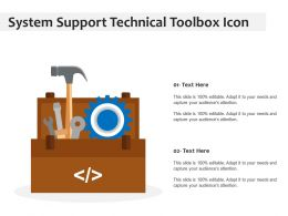 System Support Technical Toolbox Icon