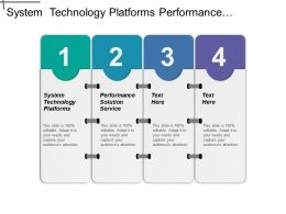 System Technology Platforms Performance Solution Service Transportation Management