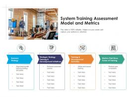 System Training Assessment Model And Metrics