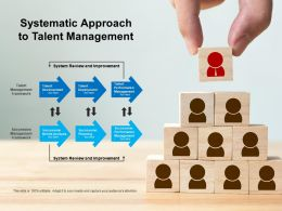 Systematic Approach To Talent Management