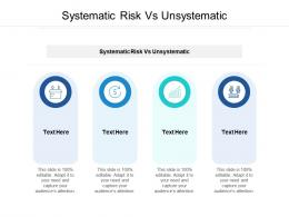 Systematic Risk Vs Unsystematic Ppt Powerpoint Presentation Infographics Icons Cpb