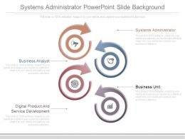 Systems Administrator Powerpoint Slide Background