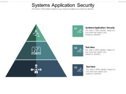 Systems Application Security Ppt Powerpoint Presentation Pictures Graphic Tips Cpb