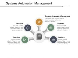 Systems Automation Management Ppt Powerpoint Presentation Portfolio Examples Cpb