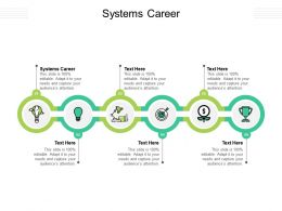 Systems Career Ppt Powerpoint Presentation Clipart Cpb