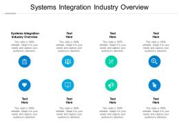Systems Integration Industry Overview Ppt Powerpoint Presentation Professional Display Cpb