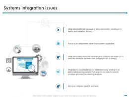 Systems Integration Issues Capabilities Ppt Powerpoint Presentation Slides Elements