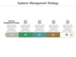 Systems Management Strategy Ppt Powerpoint Presentation Infographics Slide Cpb