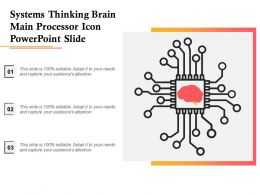 Systems Thinking Brain Main Processor Icon Powerpoint Slide