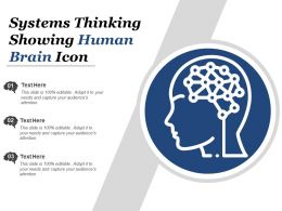Systems Thinking Showing Human Brain Icon