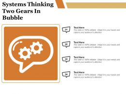 Systems Thinking Two Gears In Bubble