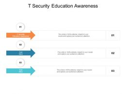 T Security Education Awareness Ppt Powerpoint Presentation Pictures Example Cpb