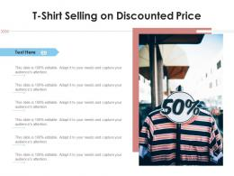 T Shirt Selling On Discounted Price