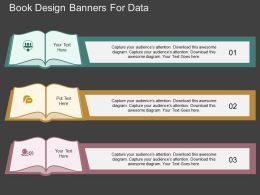 ta Book Design Banners For Data Flat Powerpoint Design
