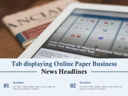 Tab Displaying Online Paper Business News Headlines