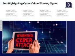 Tab Highlighting Cyber Crime Warning Signal