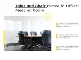 Table And Chair Placed In Office Meeting Room