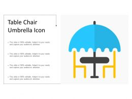 Table Chair Umbrella Icon