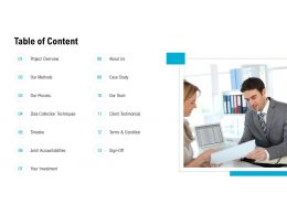 Table Of Content Accountabilities L510 Ppt Powerpoint Presentation Show