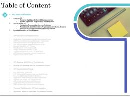 Table Of Content API Implementation Testing Ppt Templates