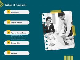 Table Of Content Contract Note Ppt File Example Introduction