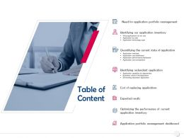 Table Of Content Expected Results N13 Ppt Powerpoint Presentation Infographics Templates