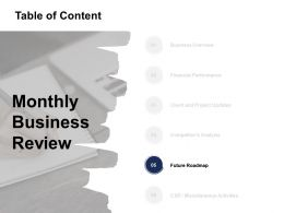 Table Of Content Future Roadmap Ppt Powerpoint Presentation Guidelines