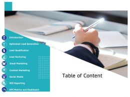 Table Of Content Generation M2667 Ppt Powerpoint Presentation Slides Styles