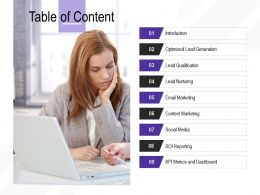 Table Of Content Introduction M2693 Ppt Powerpoint Presentation Styles Templates